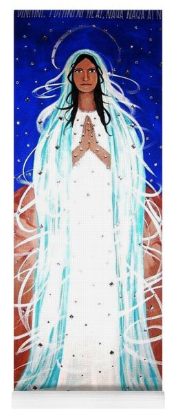 Yoga Mat featuring the painting Our Lady Of Lucid Dreams by Michelle Dallocchio