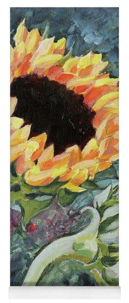 Outdoor Sunflowers Yoga Mat