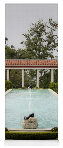 Outer Peristyle Pool And Fountain Getty Villa Yoga Mat