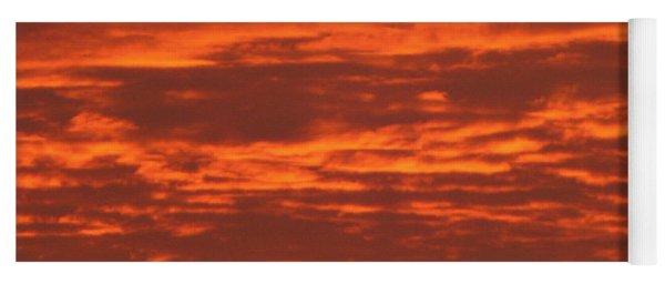 Outrageous Orange Sunrise Yoga Mat
