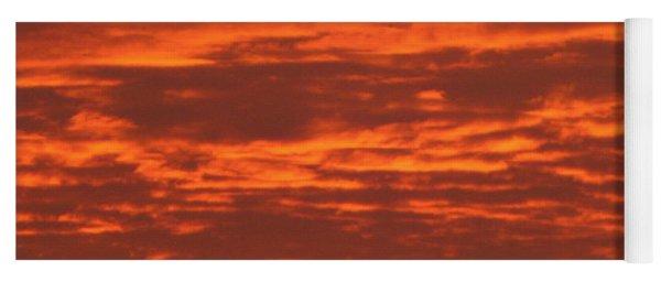 Yoga Mat featuring the photograph Outrageous Orange Sunrise by Rockin Docks Deluxephotos