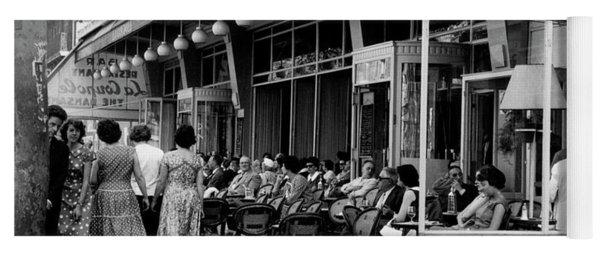 Outside Restaurant La Coupole In Montparnasse, Paris, 1959  Yoga Mat
