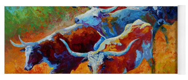 Over The Ridge - Longhorns Yoga Mat