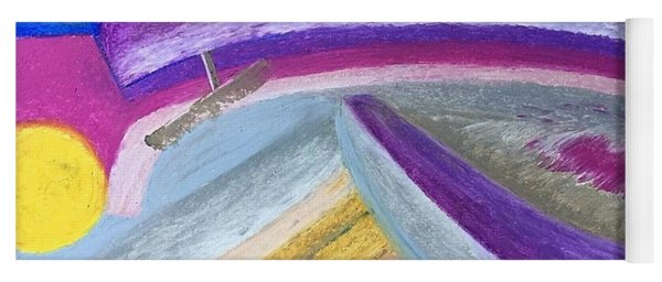 Yoga Mat featuring the painting Over The Waves by Norma Duch