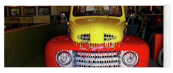 Overpainted 1950 Ford Pickup Yoga Mat