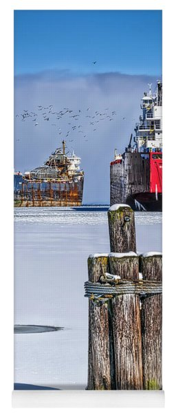 Owen Sound Winter Harbour Study #4 Yoga Mat