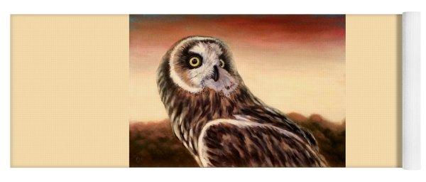 Owl At Sunset Yoga Mat