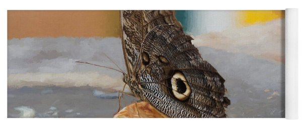 Yoga Mat featuring the photograph Owl Butterfly-1 by Paul Gulliver
