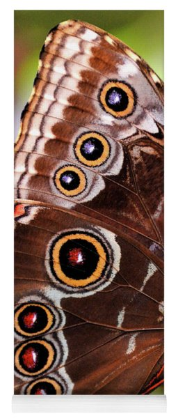 Owl Butterfly Portrait Yoga Mat