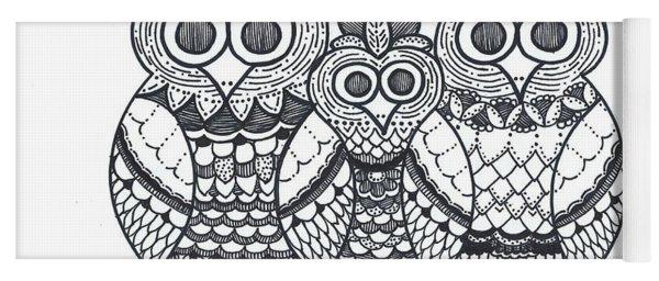 Owl Family Yoga Mat
