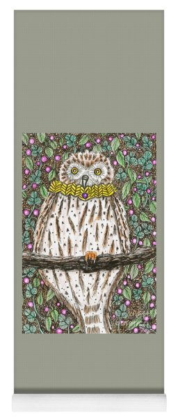 Owl Martin In A Cowl Yoga Mat
