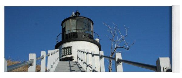 Owls Head Lighthouse Winter Yoga Mat