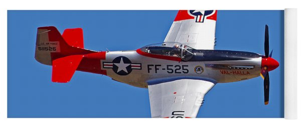 P-51d Mustang Flyby Yoga Mat