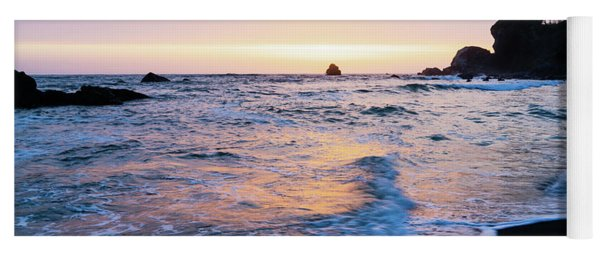 Pacific Coast Sunset Yoga Mat