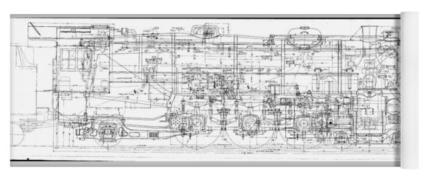 Pacific Locomotive Diagram Yoga Mat