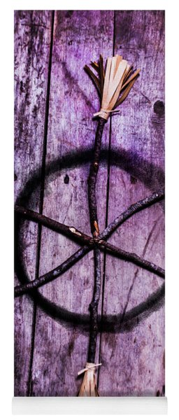 Pagan Or Witchcraft Symbol For A Gathering Yoga Mat
