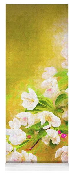 Painted Crabapple Blossoms In The Golden Evening Light Yoga Mat