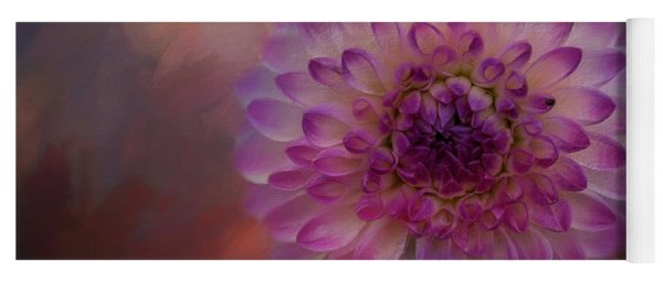 Painted Dahlia Yoga Mat