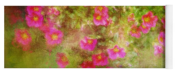 Painted Flowers Yoga Mat