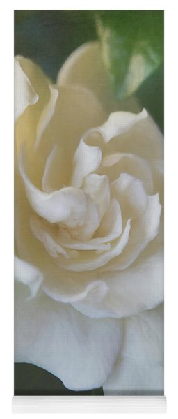 Painted Gardenia Blossom Yoga Mat