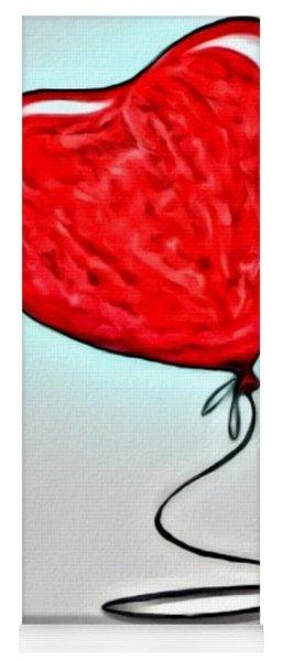 Painted Heart Yoga Mat