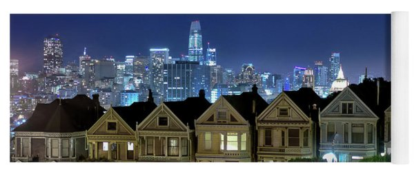 Painted Ladies Skyline Yoga Mat