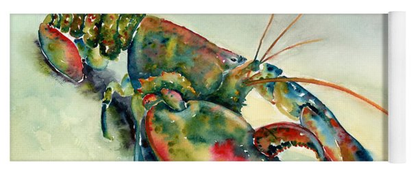 Painted Lobster Yoga Mat