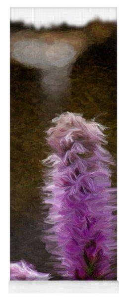 Painted Purple Flower Yoga Mat