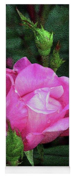 Painted Rose Yoga Mat