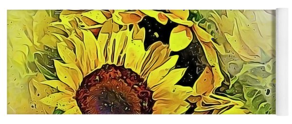 Painted Sunflowers Yoga Mat