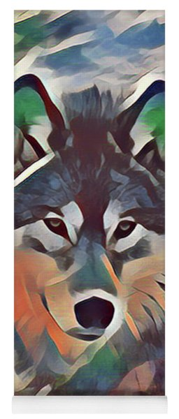 Painted Wolf Yoga Mat