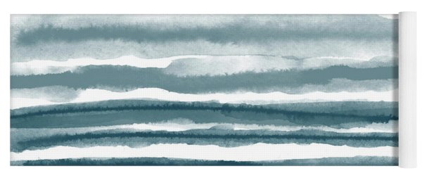 Painterly Beach Stripe 1- Art By Linda Woods Yoga Mat