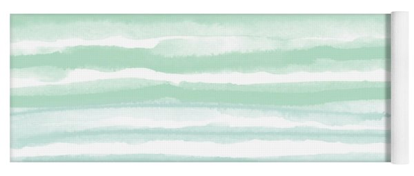 Painterly Beach Stripe 2- Art By Linda Woods Yoga Mat