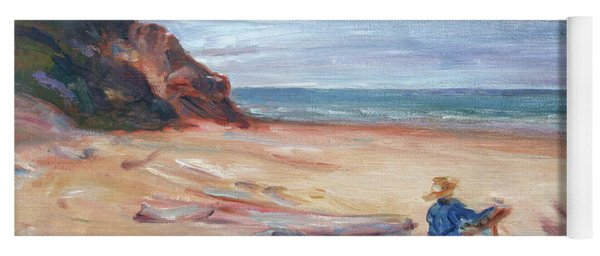 Painting The Coast - Scenic Landscape With Figure Yoga Mat