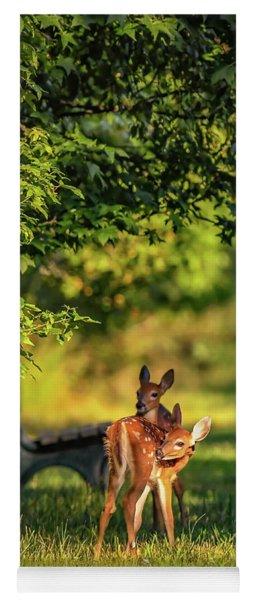 Pair Of Baby Deer Yoga Mat
