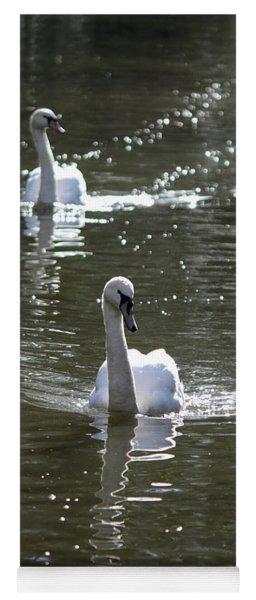 Pair Of Swans Yoga Mat