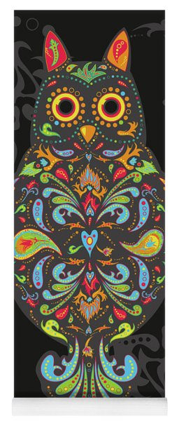 Paisley Owl Yoga Mat