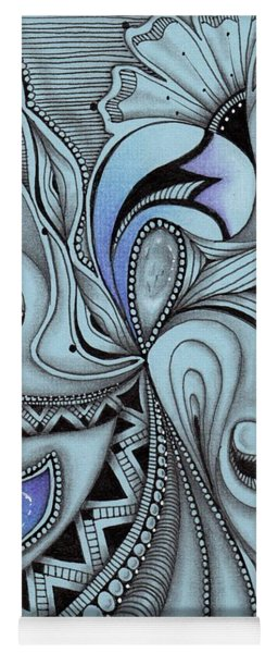 Yoga Mat featuring the drawing Paisley Power by Jan Steinle