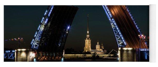 Palace Bridge At Night Yoga Mat