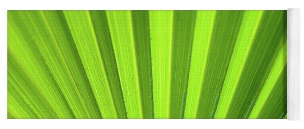 Palm Leaf Abstract Yoga Mat