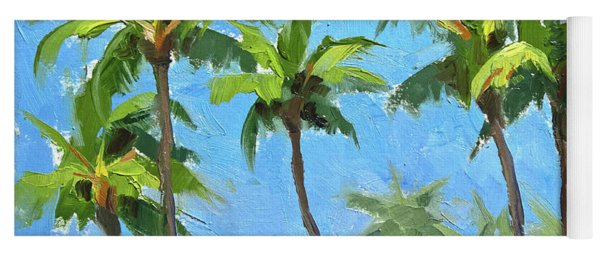 Palm Tree Plein Air Painting Yoga Mat