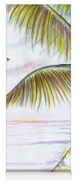 Yoga Mat featuring the digital art Palm Tree Study Three by Darren Cannell