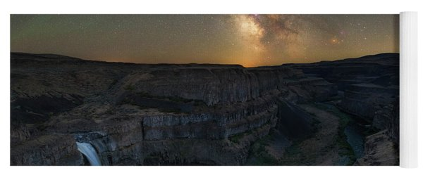 Palouse Falls Milky Way Galaxy  Yoga Mat