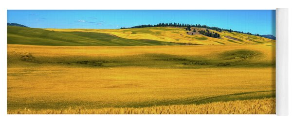 Palouse Wheat Field Yoga Mat