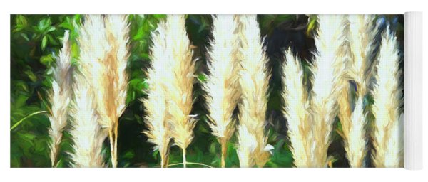Pampas Grass In Bloom Yoga Mat