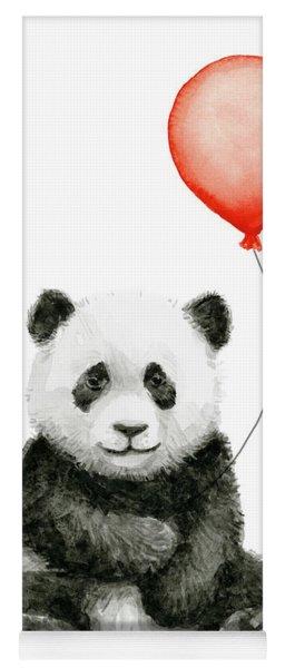 Panda Baby And Red Balloon Nursery Animals Decor Yoga Mat