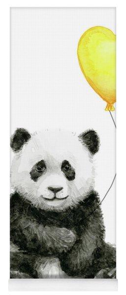 Panda Baby With Yellow Balloon Yoga Mat