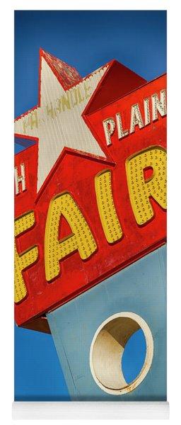 Panhandle South Plains Fair Sign Yoga Mat