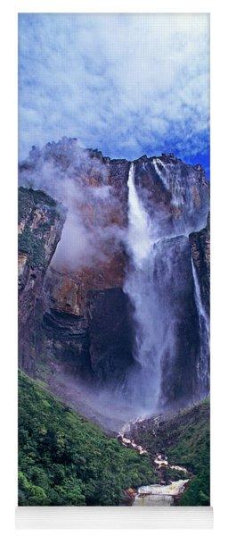Panorama Angel Falls Canaima National Park Venezuela Yoga Mat