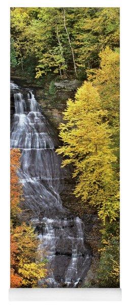 Panorama Fall Color Chapel Falls Upper Penninsula Mi Yoga Mat